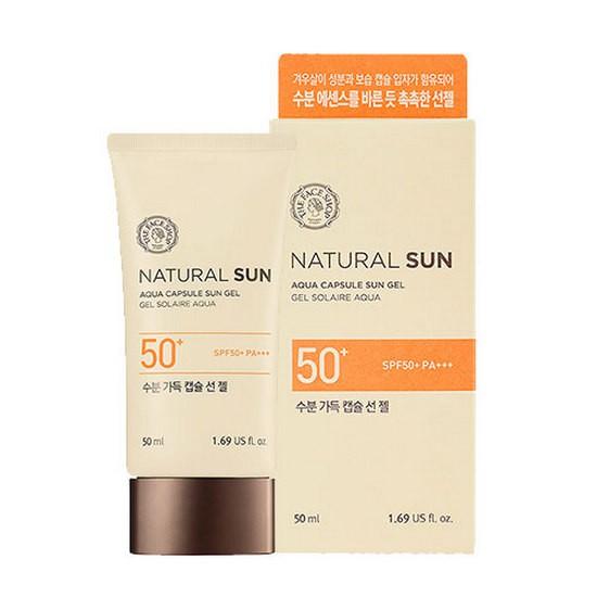 Kem Chống Nắng Dạng Gel The Face Shop Natural Sun Aqua Capsule Sun Gel Spf50+ Pa+++