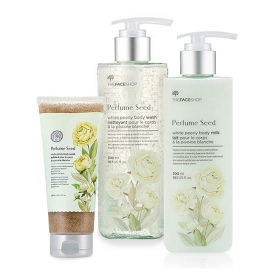 Bộ Dưỡng Trắng Da Toàn Thân The Face Shop Perfume Seed White Peony Body Set