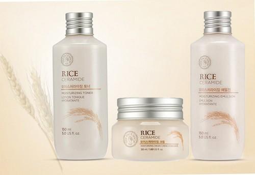 Bộ Dưỡng Sáng Da Chiết Xuất Gạo The Face Shop Rice & Ceramide