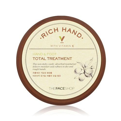 Kem Dưỡng Da Tay Chân The Face Shop Rich Hand V Hand & Foot Total Treatment 110ml