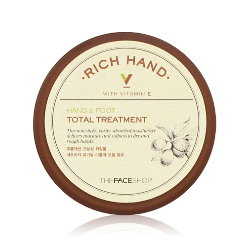 Kem Dưỡng Da Tay Chân The Face Shop Rich Hand V Hand & Foot Total Treatment 110ml
