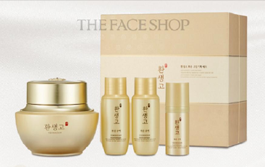Bộ Mỹ Phẩm Cải Thiện Lão Hóa Và Dưỡng Trắng Da The Face Shop Yehwadam Hwansaenggo Rejuvenating Radiance Cream Special Set