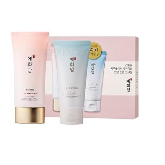 [HOT] Kem Chống Nắng Lâu Trôi The Face Shop Yehwadam Tone Up Sun Cream SPF50+ PA+++ 50ml (Tặng Kèm Sữa Rửa Mặt Yehwadam Deep Moisturizing Foaming Cleanser 50ml)