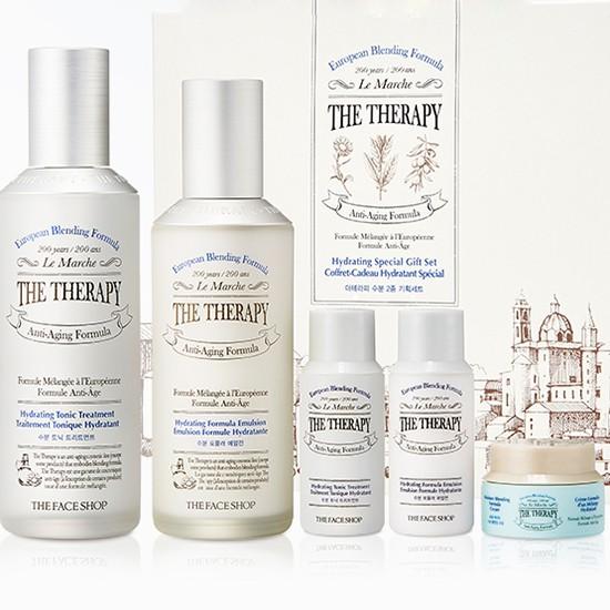 Bộ Dưỡng Ẩm Cải Thiện Độ Đàn Hồi Da The Face Shop The Therapy Hydrating Special Gift Set