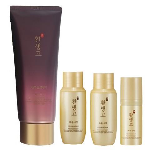 Bộ Sữa Rửa Mặt Chống Lão Hóa Da Yehwadam Hwansaenggo Rejuvenating Cleansing Special Kit (4 Items)