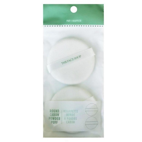 Bông phấn The Face Shop Daily Beauty Tools Face It Round Flocked Puff (2 Pieces)