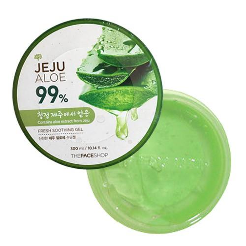 Gel Dưỡng Ẩm Da Chiết Xuất Lô Hội The Face Shop Jeju Aloe 99% Soothing Gel 300ml
