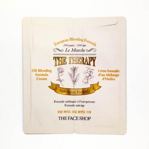 Combo 10 Kem Dưỡng Chống Lão Hóa Da Cao Cấp The Face Shop The Therapy Oil Blending Formula Cream 2.2ml - Dùng thử