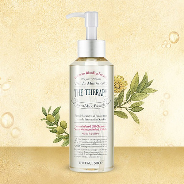 Dầu Rửa Mặt Tẩy Trang Đa Năng The Face Shop The Therapy Serum Infused Oil Cleanser 225ml