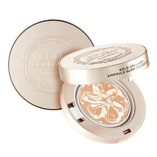 Phấn Tươi Chống Lão Hóa The Face Shop Gold Collagen Ampoule Glow Foundation SPF50+/PA+++