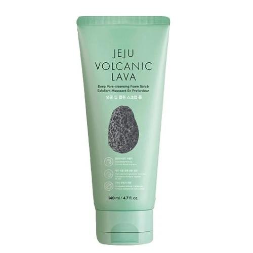 Sữa Rửa Mặt Mátxa Tro Núi Lửa The Face Shop Jeju Volcanic Lava Pore Scrub Foam 140ml