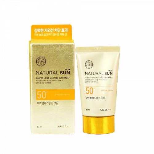 [BIG SALE] Kem Chống Nắng Lâu Trôi The Face Shop Natural Sun Eco Power Long Lasting Sun Cream SPF50+/PA+++ 50ml