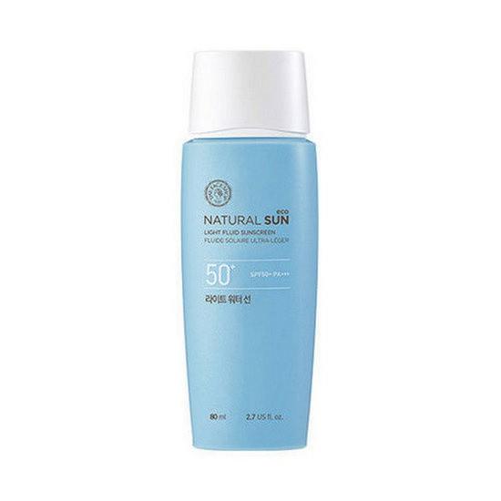 Kem Chống Nắng Dạng Nước The Face Shop Natural Sun Eco Light Fluid Sunscreen SPF 50+ Pa+++
