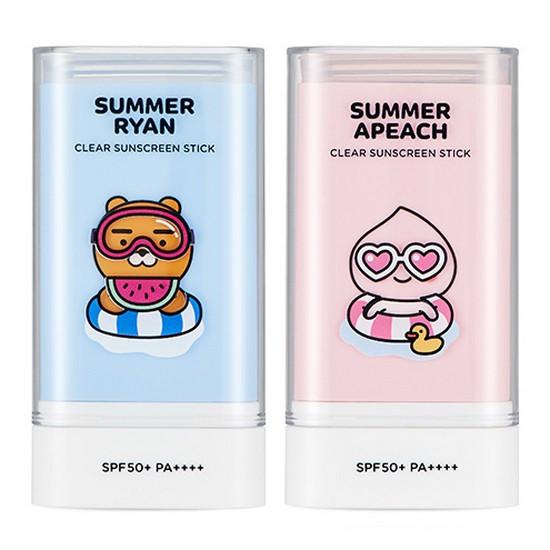 Kem Chống Nắng Dạng Sáp The Face Shop Summer Apeach/ Ryan Clear Suncreen StickSPF 50+/ PA++++