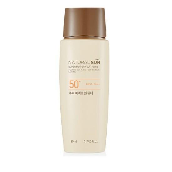 Kem Chống Nắng Dưỡng Ẩm Lâu Trôi The Face Shop Natural Sun Eco Super Perfect Sun Fluid SPF50+ PA+++ 80ml