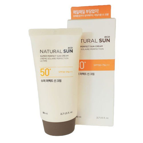 Kem Chống Nắng Dưỡng Ẩm The Face Shop Natural Sun Eco Super Perfect Sun Cream SPF50 PA+++ 80ml