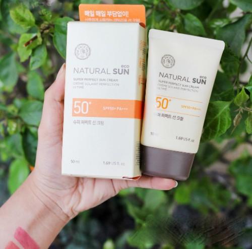 Kem Chống Nắng Dưỡng Ẩm The Face Shop Natural Sun Eco Super Perfect Sun Cream SPF50 PA+++ 50ml