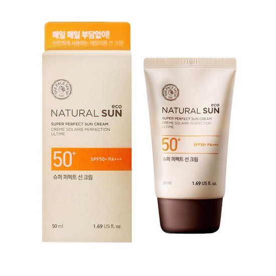 Kem Chống Nắng Dưỡng Ẩm The Face Shop Natural Sun Eco Super Perfect Sun Cream SPF50 PA+++ 50ml