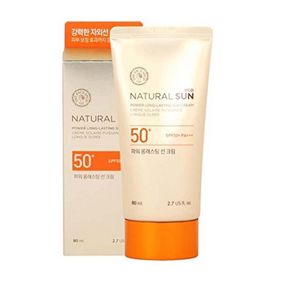 Kem Chống Nắng Lâu Trôi The Face Shop Natural Sun Eco Power Long Lasting Sun Cream 80ml
