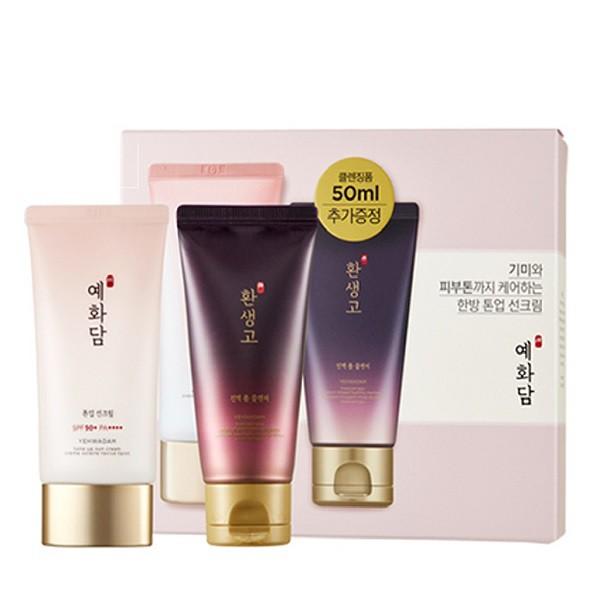 Kem Chống Nắng Lâu Trôi The Face Shop Yehwadam Tone Up Sun Cream SPF50+ PA+++ 50ml (Tặng Kèm Sữa Rửa Mặt)