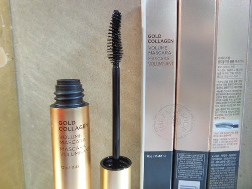 Mascara Làm Dày Và Cong Mi The Face Shop Gold Collagen Volume Mascara