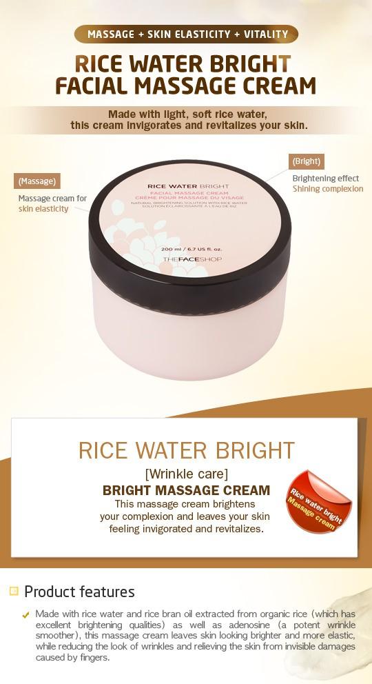 Kem Mátxa Dưỡng Trắng The Face Shop Rice Water Bright  - 200ml