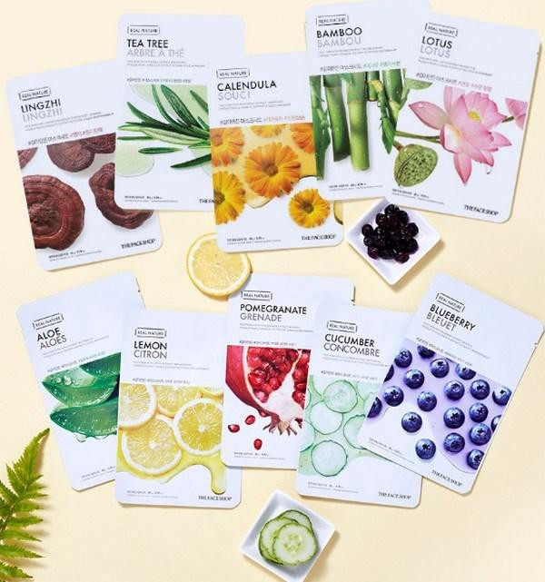 Combo 10 Mặt Nạ Giấy Chiết Xuất Hoa Sen The Face Shop Real Nature Mask Lotus 20g
