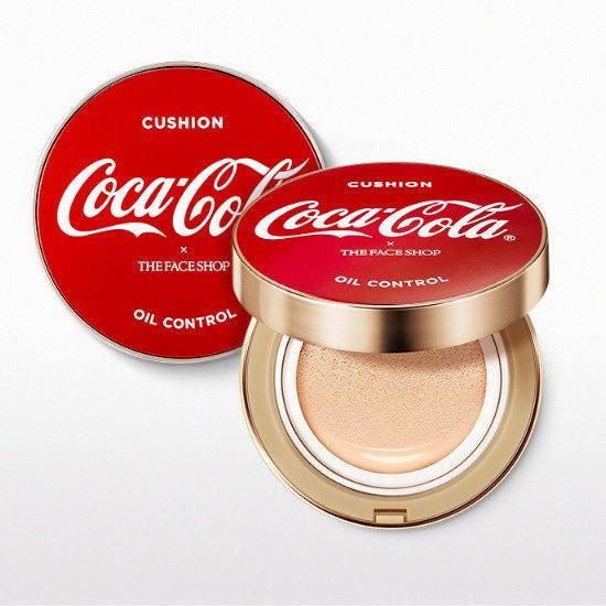 Phấn Nước Kiềm Dầu The Face Shop X Coca Cola Oil Control Cushion