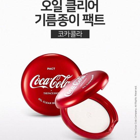 Phấn Phủ Kiềm Dầu The Face Shop x Coca Cola Oil Clear Blotting Pact
