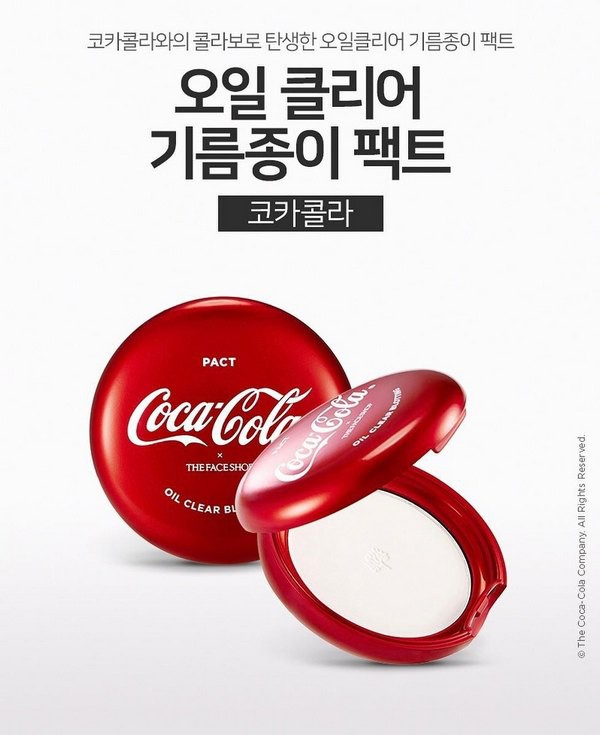 Phấn Phủ Kiềm Dầu The Face Shop x Coca Cola Oil Clear Blotting Pack