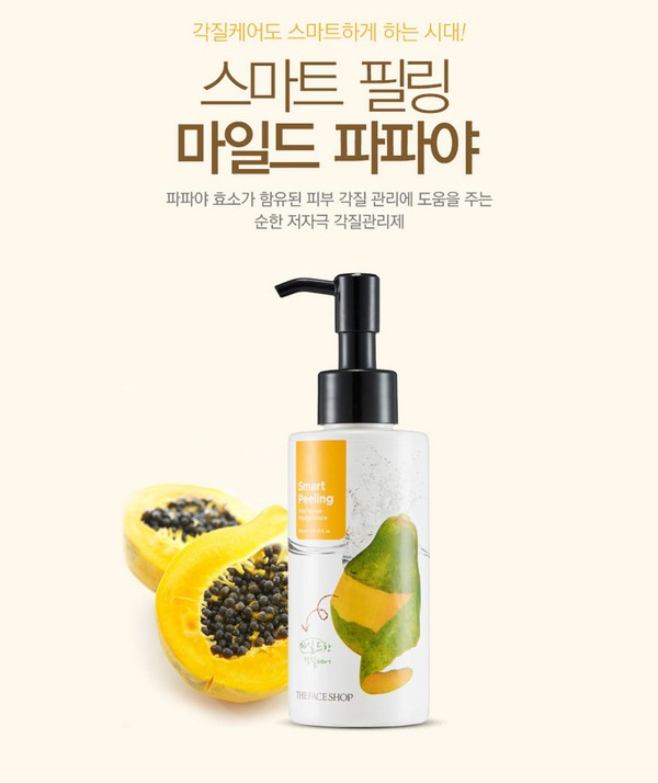 Sữa Tẩy Da Chết Đu Đủ The Face Shop Smart Peeling Mild Papaya Peeling 150ml