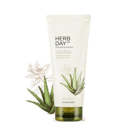 Sữa Rửa Mặt Lô Hội & Trà Xanh Herb Day 365 Master Blending Foaming Cleanser 170ml