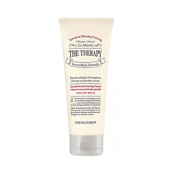 Sữa Rửa Mặt Ngăn Ngừa Dấu Hiệu Lão Hóa Sớm The Face Shop The Therapy Essential Formula Foaming Cleanser 150ml