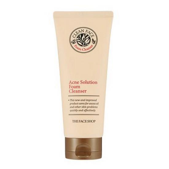 Sữa Rửa Mặt Trị Mụn The Faceshop Clean Face Acne Solution Foam Cleansing 150 ml (Phiên Bản Mới 2018)
