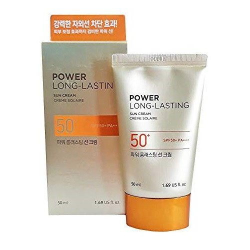 Kem Chống Nắng Lâu Trôi The Face Shop Natural Sun Eco Power Long Lasting Sun Cream SPF50+/PA+++ 50ml