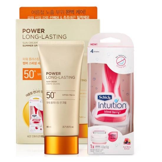 Bộ Sản Phẩm Kem Chống Nắng Đặc Biệt The Face Shop Power Long Lasting Sun Cream Set