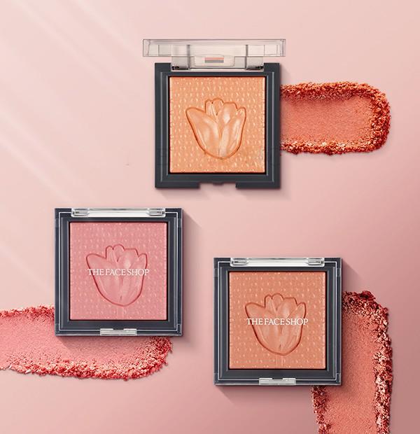 Phấn Má Hồng Lấp Lánh Ngọc Trai The Face Shop Prism Cube Blusher By Italy 7g