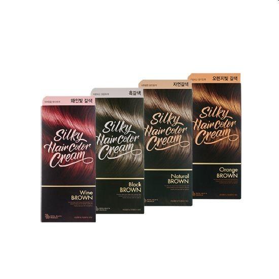 Thuốc Nhuộm Tóc Lên Màu Siêu Ấn Tượng The Face Shop Silky Hair Color Cream 130g
