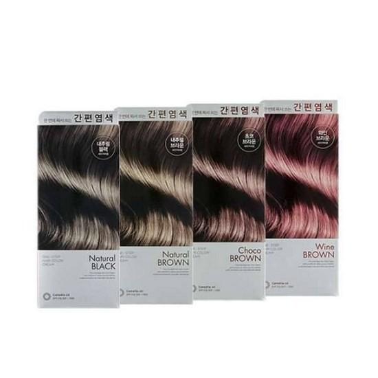 Thuốc Nhuộm Tóc Từ Thảo Dược Lên Màu Chuẩn Xác The Face Shop One Step Hair Color Cream 100g