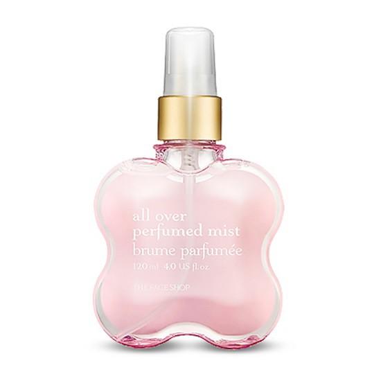 Xịt Khử Mùi Cơ Thể The Face Shop All Over Perfumed Mist 120ml (#01 Secret Bloom – Hương Hoa Anh Đào)