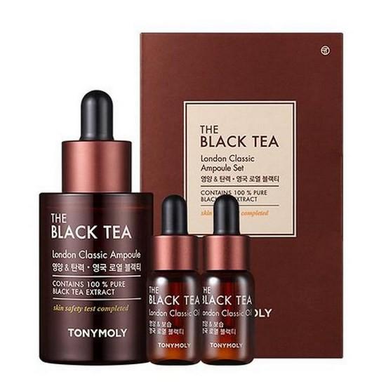 Bộ Dưỡng Da Chiết Xuất Từ Trà Đen Tonymoly The Black Tea London Classic Ampoule Set