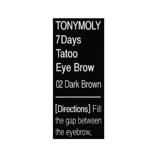 Bút Xăm Chân Mày TONYMOLY 7 Days Tattoo Eyebrow (#2 Màu Nâu Sẫm)