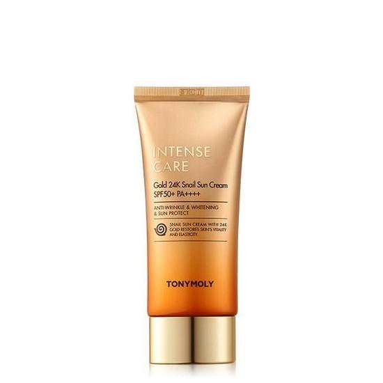Kem Chống Nắng Cao Cấp Tonymoly Intense Care Gold 24k Snail Sun Cream SPF50+ PA++++