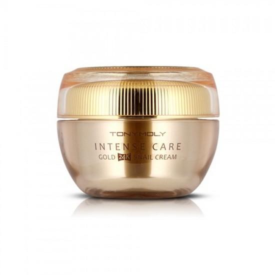Kem Dưỡng Trắng Và Tái Tạo Da TonyMoly Intense Care Gold 24k Snail Cream (Vàng)