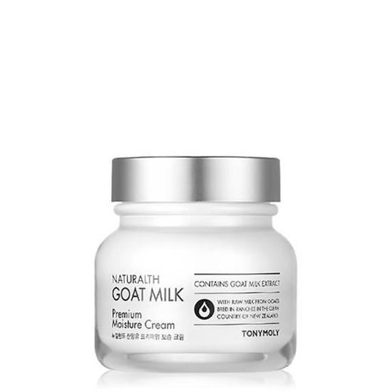 Kem Dưỡng Ẩm Cải Thiện Tông Da Trắng Sáng Từ Sữa Dê TonyMoly Naturalth Goat Milk Premium Moisture Cream 60ml