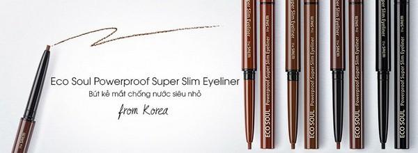 Bút Kẻ Mắt Chống Nước The SAEM Eco Soul Powerproof Super Slim Eyeliner