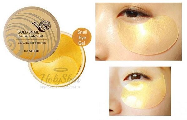 Mặt Nạ Mắt Chiết Xuất Ốc Sên The Saem Gold Snail Eye Gel Patch