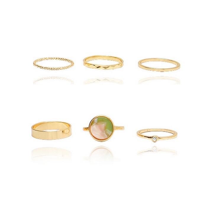 Set 6 Nhẫn Blish Màu Vàng