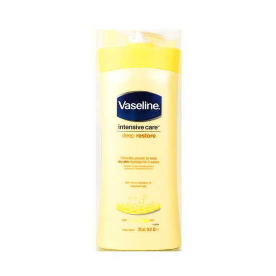 Sữa Dưỡng Thể Cấp Ẩm Làm Mịn Da Vaseline Deep Restore 725ml (Vàng)