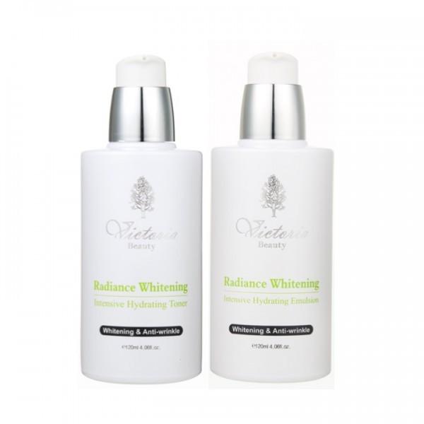 Bộ Dưỡng Da Cơ Bản Cao Cấp Victoria Beauty Radiance Whitening Intensive Illuminating Set (2 Sản Phẩm)